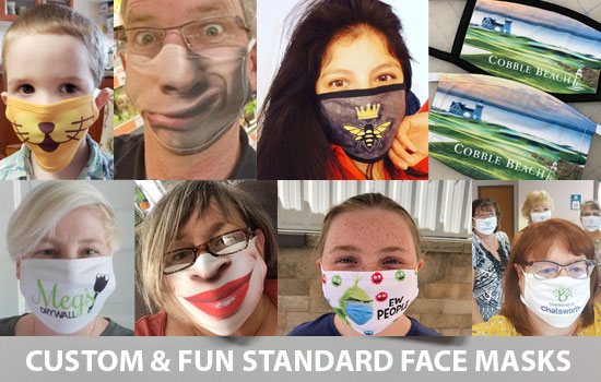 Standard, Fun & Personalized Face Masks - Ontario, Canada